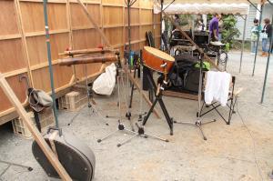 楽屋の楽器