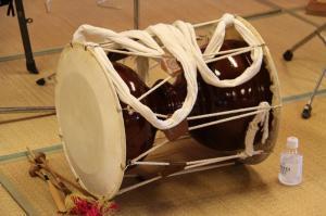 甲斐さん担当の杖鼓(チャンゴ)
